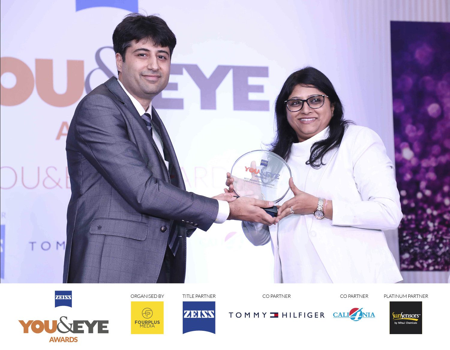 Pallavi A Chaudhary from was present to receive the awards from Rohan Paul of ZEISS.